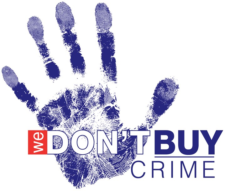 we dont buy crime logo